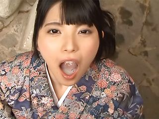 Enticing Asian teen Ai Uehara in cock sucking POV