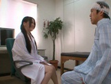 Busty Asian nurse Anna Natsuki enjoys titfuck an sucks cock on pov