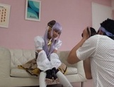 Cosplay scene with a naughty Japanese cutie picture 11