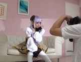 Cosplay scene with a naughty Japanese cutie picture 12