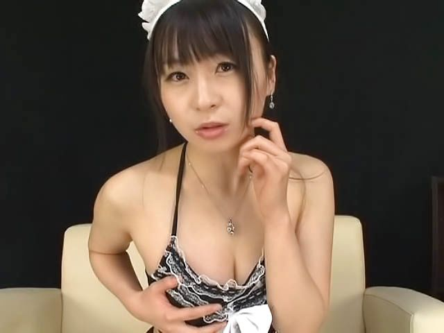 Red-hot Japanese AV model is a maid in sexy stockings