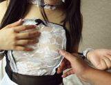 Frisky Japanese maid Kokoa Aisu enjoys fucking on POV