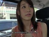 Charning Japanese milf plays with toys and with pecker