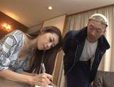 Juicy Japanese housewife Maki Hokujo bounces on rod
