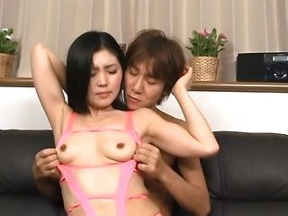 Hot Japanese mature nympho in mini bikini in hardcore action