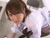 Young schoolgirl Himari Wakana enjoys blowjob picture 14