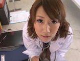 Young schoolgirl Himari Wakana enjoys blowjob