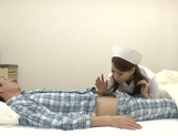 Crazy Japanese nurses are insatiable cock suckers teasing patients picture 13