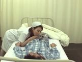 Crazy Japanese nurses are insatiable cock suckers teasing patients picture 15