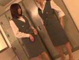 Lusty Tokyo milfs in uniform enjoy hot lesbian sex picture 15