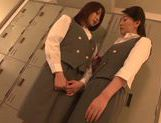 Lusty Tokyo milfs in uniform enjoy hot lesbian sex