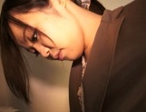 Sexy office lady in trouser suit Nozomi Yui gives a great head job picture 15
