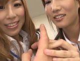 Alluring Japanese AV models are getting a hot fuck in the office