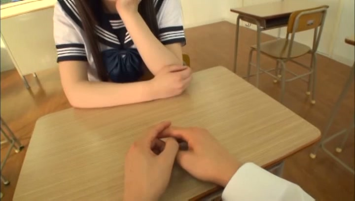 Very nice Tokyo schoolgirl has a shameless sex action in a classroom