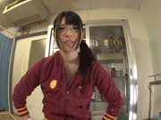 Hot Japanese teen Ai Uehara receives warm stimulation from horny guy