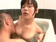 Superb Sayaka Aishiro loves getting banged in the shower