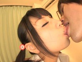 Pigtailed schoolgirl with tiny tits Hitomi Miyano enjoys pussy creampies
