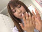 Stunning Asian teacher Shunka Ayami pleases three dudes