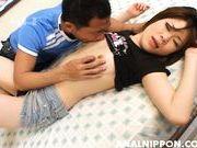 Horny sex doll Yuri Kosaka enjoys hot banging on Asian anal porn