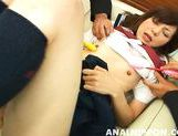Unsatisfied Asian babe gets her pussy stretched and anal inserted picture 11