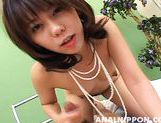 Sweet Asian girl Maho Sawai exposes her anal and pussy gets banged
