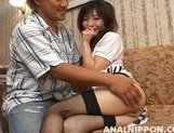 Babe with tiny tits Ryoko likes hot games with her anal and pussy picture 11