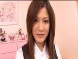 Neiro Suzuka Naughty Asian schoolgirl gets her pussy poked and tits fondled picture 13