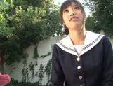Young Miku Sunohara enjoys her new pussy toy picture 15