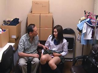 Japanese AV Model is a horny teen in amateur sex