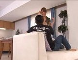 Akiho Yoshizawa Naughty Asian housewife enjoys being fucked from behind picture 11