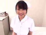 Akane Yoshinaga naughty nurse in pov blowjob action picture 12