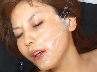 Hime Kamiya Asian chick enjoys bukkake
