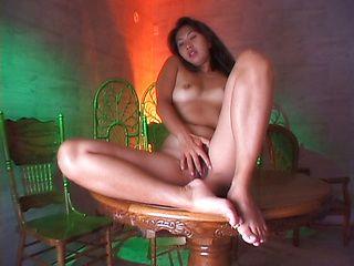 Kyoko Asano Hot Asian mature gal is masturbated