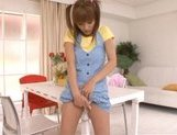 Kirara Asuka Asian doll is enjoying masturbation picture 12