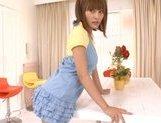 Kirara Asuka Asian doll is enjoying masturbation