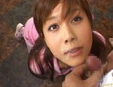 Kinky Japanese AV girl Hime Kamiya enjoys Asian pov facial picture 15