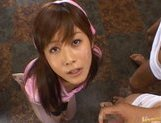 Kinky Japanese AV girl Hime Kamiya enjoys Asian pov facial