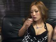 Superb hottie Aika enjoys large cock for sex fun