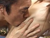 Hime Kamiya Asian teen in hard bukkake picture 10