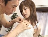Hime Kamiya Asian teen in hard bukkake picture 6