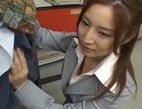 Senna Kurosaki Lovely Asian doll gives a hot blowjob picture 8