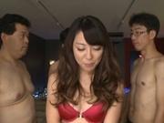 Gang bang to please milf Rinn Tsuchiya�s desires