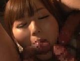 Sexy model Yuu Asakura has cum on her big hot boobs