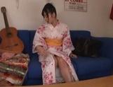 Mako Mizuhara in sexy kimono gets hardcore doggy style