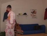 Mako Mizuhara in sexy kimono gets hardcore doggy style picture 11
