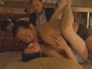 Arousing Asian babes in hot foursome for hard fucking