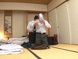 Cute Japanese milfs involve two horny dudes into a kinky group action picture 14