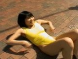 Sweet Asian girl exposes her fine ass on the street picture 11