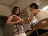 Hungry Japanese milf is impaled on throbbing schlong