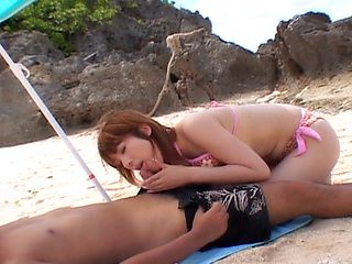 Kyoko Fukuzawa Lovely Asian doll has outdoor sex